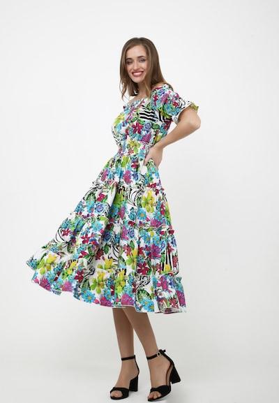 Madam-T Sommerkleid 'FIGARO' in hellblau / mischfarben / weiß, Modelansicht