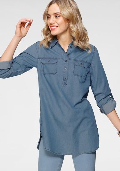 ARIZONA Jeansbluse in blau, Modelansicht