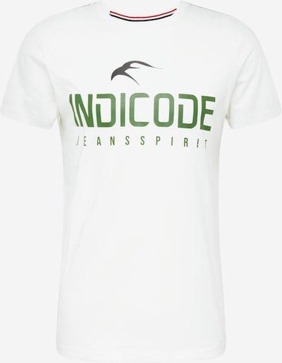 INDICODE JEANS Тениска в зелено / бяло, Преглед на продукта