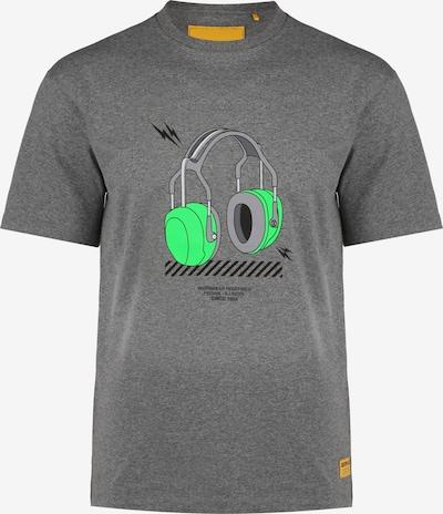CATERPILLAR T-Shirt in grau / neongrün / schwarz, Produktansicht