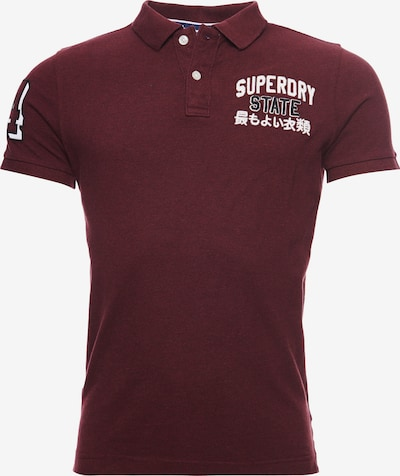 Superdry Superdry Classic Superstate Polohemd in karminrot: Frontalansicht