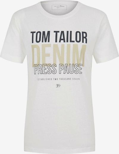 TOM TAILOR DENIM T-Shirt in beige / dunkelgrau / offwhite, Produktansicht