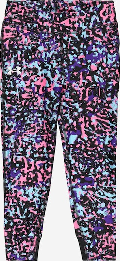 UNDER ARMOUR Workout Pants in Light blue / Pink / Black, Item view