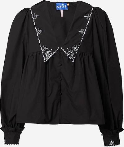 Crās Blouse 'Nayacras' in de kleur Zwart / Wit, Productweergave