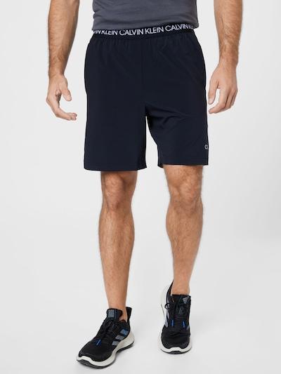 Calvin Klein Performance Športové nohavice - čierna / biela, Model/-ka