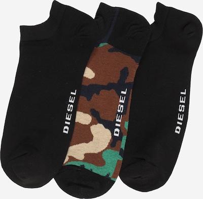 DIESEL Enkelsokken in de kleur Gemengde kleuren / Zwart, Productweergave