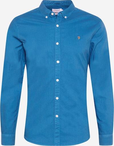FARAH Chemise 'BREWER' en bleu ciel / orange, Vue avec produit