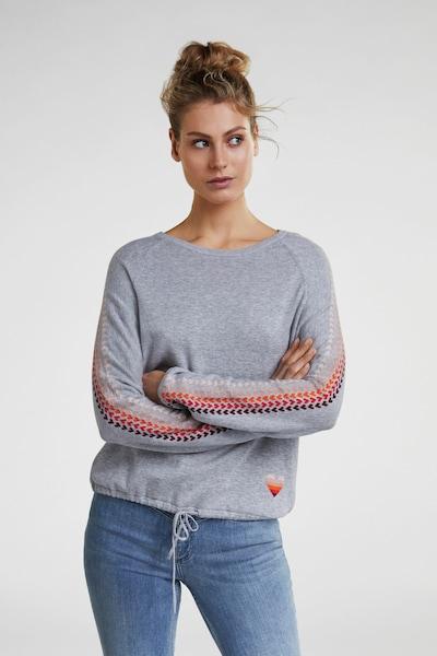 OUI Pullover in graumeliert / mischfarben, Modelansicht