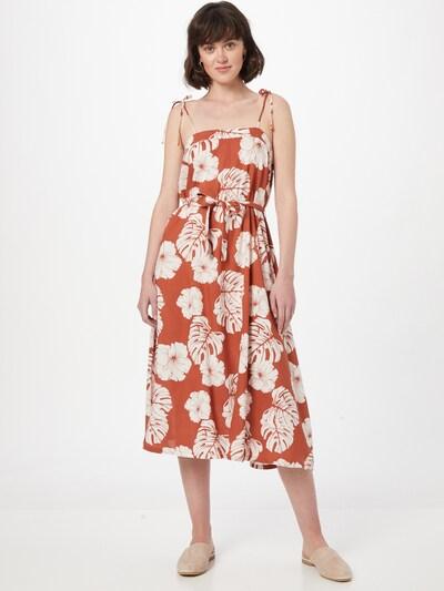 ROXY Letní šaty 'NOWHERE TO HIDE' - rezavě červená / přírodní bílá, Model/ka