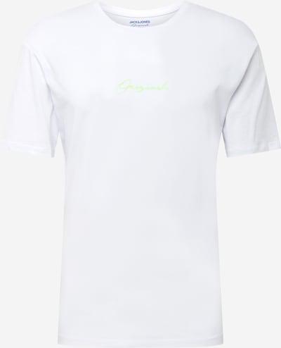 JACK & JONES Тениска в неоново зелено / черно / бяло, Преглед на продукта