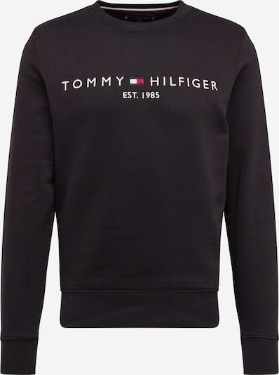 TOMMY HILFIGER Mikina 'TOMMY LOGO SWEATSHIRT' - černá / bílá, Produkt