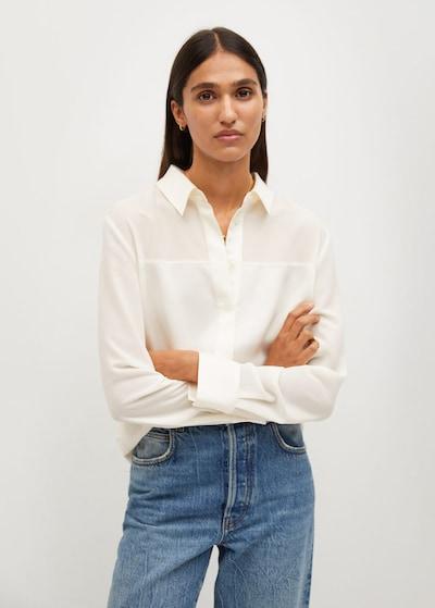 MANGO Bluse 'Bima' in offwhite, Modelansicht