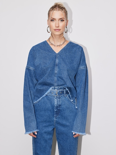 LeGer by Lena Gercke Shirt 'Mareen' in blue denim: Frontalansicht
