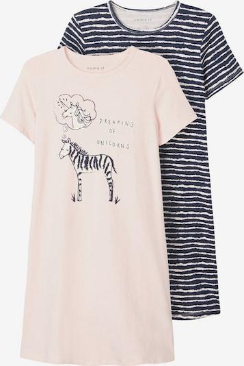 NAME IT Nachthemd in navy / mischfarben / rosa, Produktansicht