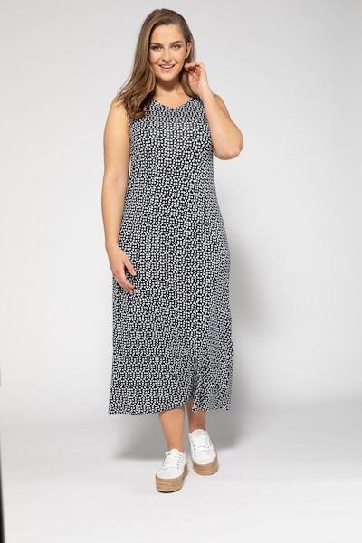 Ulla Popken Jerseykleid in schwarz / weiß, Modelansicht