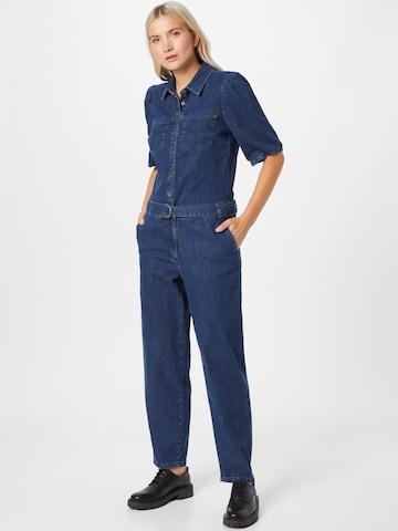 PULZ Jeans Jumpsuit 'Cassi' in Blauw