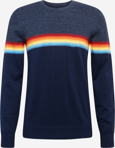 GAP Pullover i turkis / mørkeblå / pastelgulv / orange / rød, Produktvisning