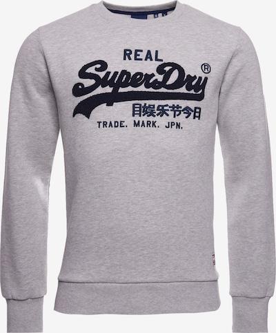 Superdry Sweatshirt in dunkelblau / graumeliert / rot / weiß, Produktansicht
