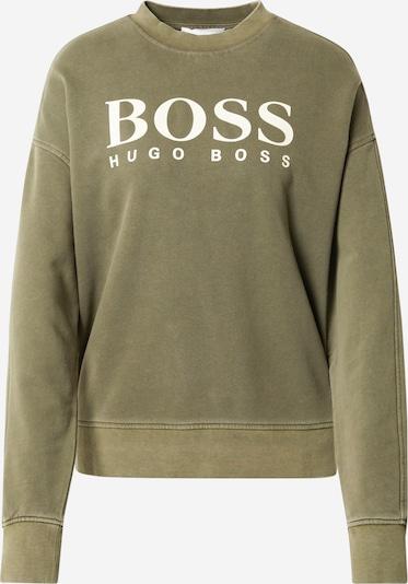 BOSS Casual Sweatshirt 'Evinta' in khaki / weiß, Produktansicht
