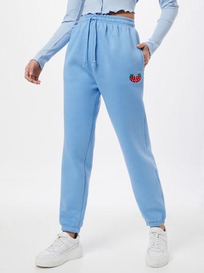 Daisy Street Панталон 'MEGAN' в опушено синьо / зелено / червено: Изглед отпред