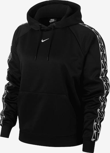 NIKE Hoodie ' Sportswear Logo Tape ' in schwarz / weiß, Produktansicht