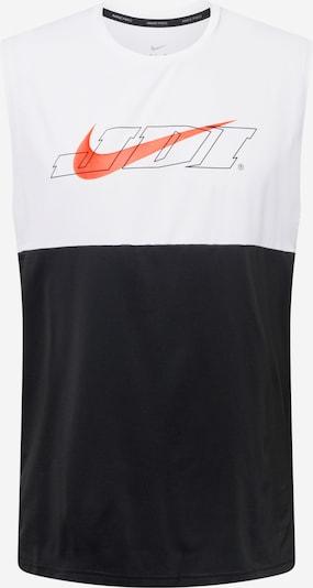 NIKE T-Shirt fonctionnel en orange foncé / noir / blanc, Vue avec produit