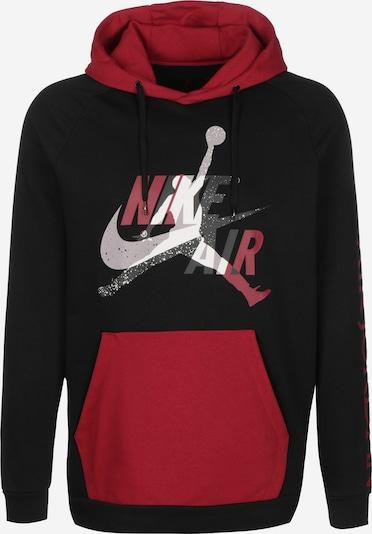Jordan Sweatshirt 'Jumpman Classics' in rot / schwarz / weiß, Produktansicht