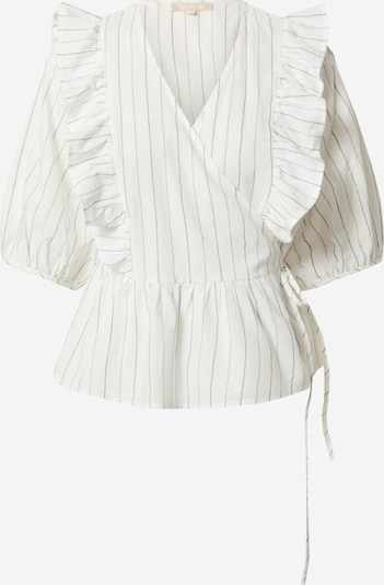 Soft Rebels Blouse 'Vickie' in de kleur Grijs / Wit, Productweergave