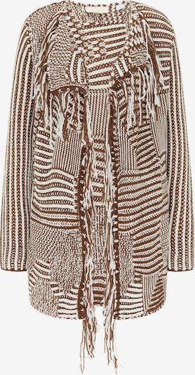usha FESTIVAL Gebreid vest in de kleur Bruin / Wit, Productweergave