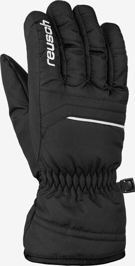 REUSCH Fingerhandschuh 'Alan Junior' in schwarz / weiß, Produktansicht