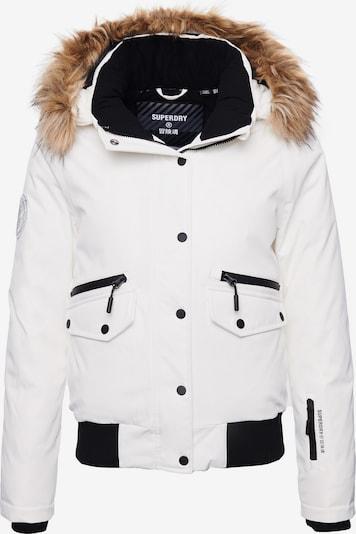 Superdry Winterjas in de kleur Zwart / Wit, Productweergave