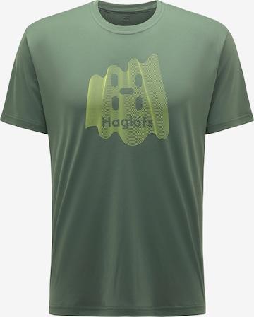 T-Shirt fonctionnel 'Glee' Haglöfs en vert