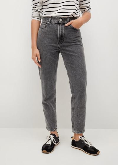 MANGO Mom Jeans in grau, Modelansicht