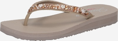 SKECHERS T-bar sandals 'Meditation Daisy Garden' in Gold / Taupe / White, Item view