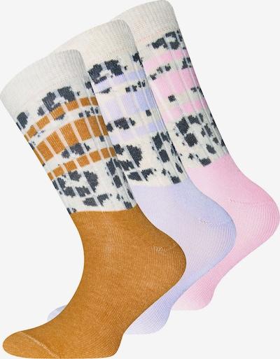 EWERS Chaussettes en miel / lilas / rose / noir / blanc, Vue avec produit