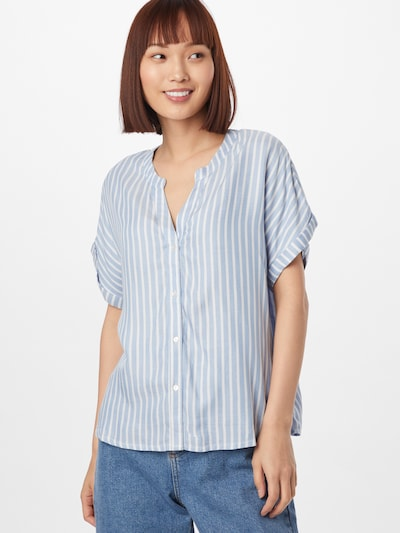 ABOUT YOU Blouse 'Leonie' in Light blue / White, View model