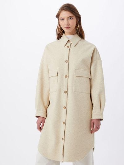 Cream Between-Seasons Coat 'Clara' in Beige, View model