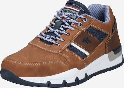 TOM TAILOR Sneaker in navy / cognac / dunkelbraun, Produktansicht