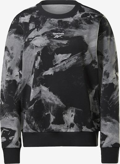 REEBOK Sportief sweatshirt in de kleur Zwart / Wit, Productweergave