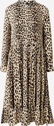 Zwillingsherz Košulja haljina 'Celine' u bež / svijetlosmeđa / crna, Pregled proizvoda