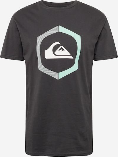 QUIKSILVER Tričko 'SURE THING' - světlemodrá / světle šedá / černá / bílá, Produkt
