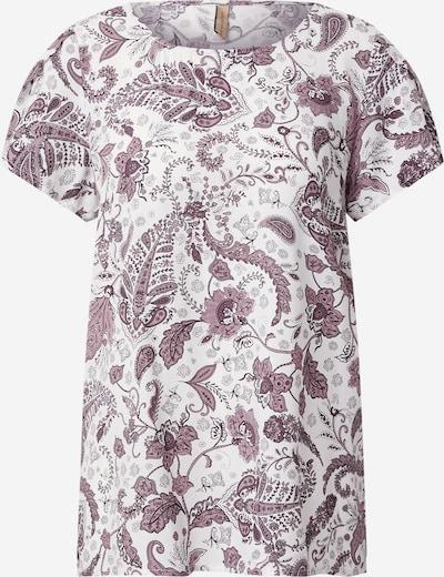 Soyaconcept Bluse 'SAMMY' in lila / weiß, Produktansicht