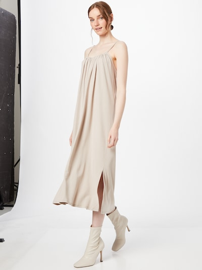 OBJECT Kleid 'WILMA' in taupe, Modelansicht