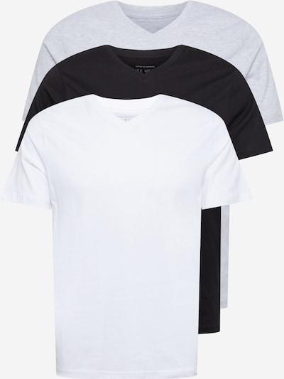 Cotton On Tričko - sivá melírovaná / čierna / šedobiela, Produkt
