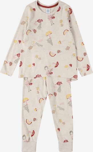 SANETTA Pyjamas i beige / gul / mörkgrön / puder / bordeaux, Produktvy