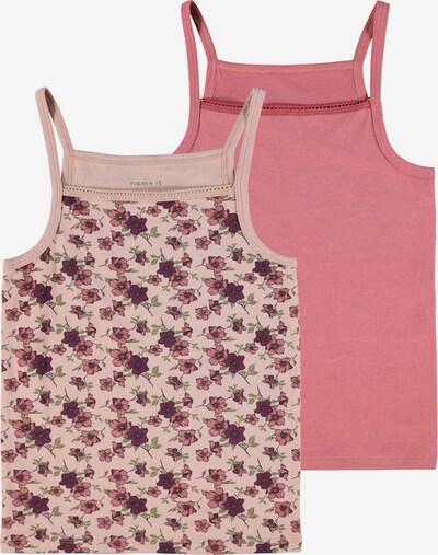 NAME IT Unterhemd in grün / pastelllila / dunkellila / rosé / hellpink, Produktansicht