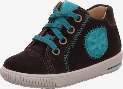 SUPERFIT Sneaker 'MOPPY' in türkis / dunkelbraun, Produktansicht