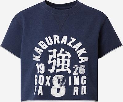 Superdry Shirt in dunkelblau / weiß, Produktansicht