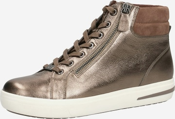 CAPRICE High-Top Sneakers in Gold