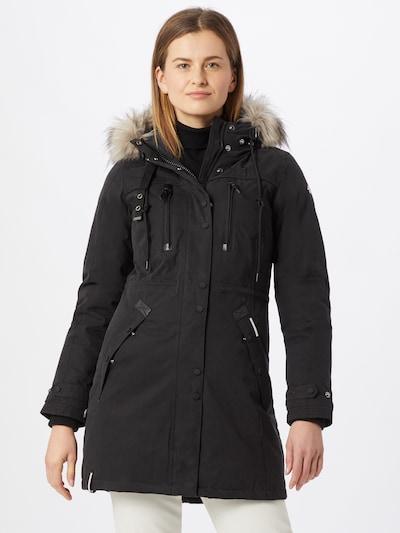 khujo Mantel in schwarz, Modelansicht